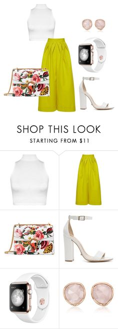"""""""A pop o color"""" by britscarike on Polyvore featuring WearAll, Delpozo, Gucci, Schutz and Monica Vinader"""