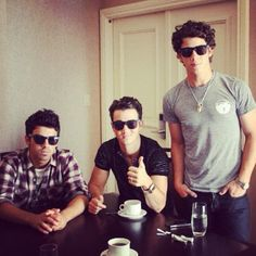 Jonas Brothers, so they aren't funny, but they make me smile because i love them so...