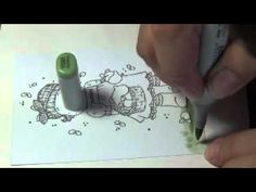 How to color ground with Copic Marker - Part I Grass