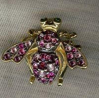 Joan Rivers Midnight Garden Bee Pin, her last one. A gift from me.
