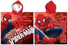 Poncho de bain avec capuche Spiderman
