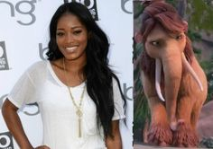 Keke Palmer is the voice of the mammoth Peaches in 'Ice Age 4.'