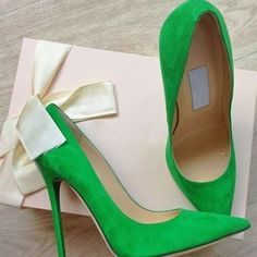 Shoespie Basic Street Greenery Stiletto Heels.  I want these!