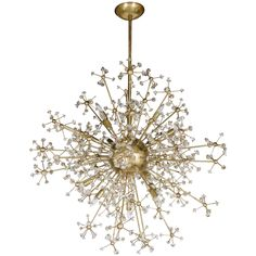 Stunning Mid-Century Modern Sputnik Chandelier with Murano Glass Adornments   From a unique collection of antique and modern chandeliers and pendants at https://www.1stdibs.com/furniture/lighting/chandeliers-pendant-lights/