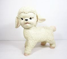 Vintage Toy Lamb by PeachyChicBoutique on Etsy