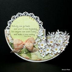 TUTORIAL... Circle Side-Step Card by Beccy Muir... then decorate however you wish! Side Step Card, Step Cards
