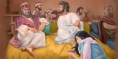 A woman with a bad reputation interrupts a meal at Simon's house to pour oil on Jesus' feet. He uses the opportunity to teach about forgiveness.