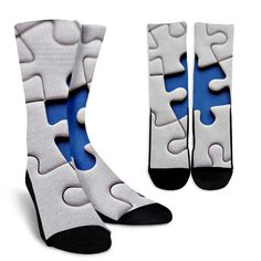 Crafted from a premium fabric blend for enhanced moisture-wicking performance. Autism Awareness, Socks, Unisex, Fabric, Sneakers, Women, Products, Tejido, Tennis Sneakers