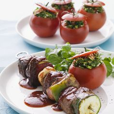 Stuffed Tomatoes are a great side dish! - Sprouts Farmers Market - sprouts.com #GreatGrillin