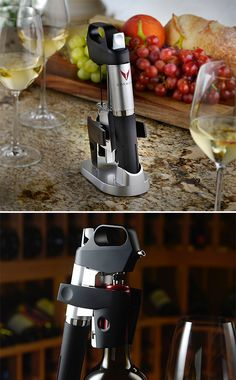 Coravin 1000 Wine Access System - When you don't want to polish off an entire bottle, the Coravin 1000 Wine Access System allows you to sample wine from a bottle without ever popping the cork. It uses a medical grade needle that makes its way through the cork to the wine for extraction. | Werd