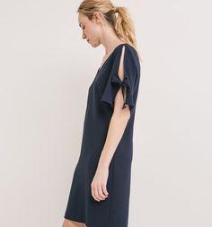 Robe crêpée Femme marine - Promod