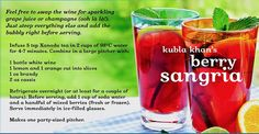 Kubla Khan's Berry Sangria by DAVID'sTEA, via Flickr