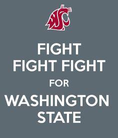 FIGHT FIGHT FIGHT FOR WASHINGTON STATE<3 #washingtonstate #wsu #wsucougars…