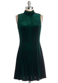 Head to Concerto Dress. From overture to encore, this green velvet dress is sure to keep you in the spotlight as you solo! #green #modcloth
