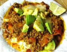 Simple Chili with Lime & Avocado #Healthilinguist
