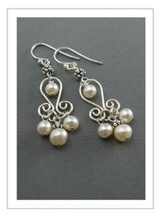 Pearl 'Tulip' Earrings wedding earrings maybe?
