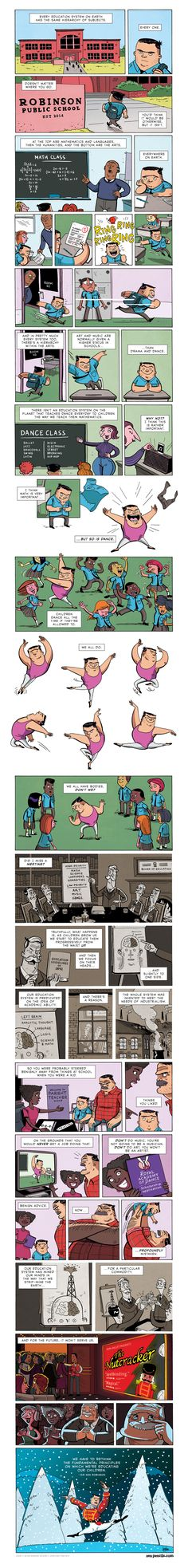Sir Ken Robinson: Full Body Education (Zen Pencils)