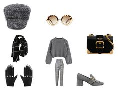 """""""Fierce in the city"""" by ruedelamodeboutique on Polyvore featuring Prada and Majesty Black"""
