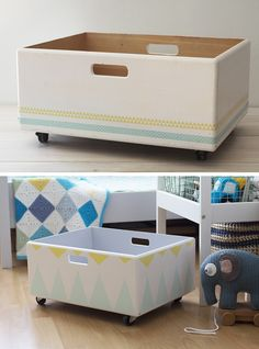 Room Ideas Bedroom, Kids Bedroom, Wooden Phone Holder, Cardboard Crafts, Diy Wood Projects, Toy Boxes, Kids Furniture, Wooden Boxes, Diy Home Decor