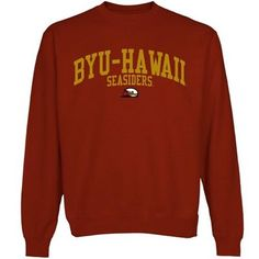 BYU-Hawaii Seasiders Team Arch Sweatshirt - Crimson Size small