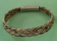 White Basket Weave Horse Hair Bracelet | eBay