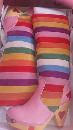 My rainbow boots, i'm so in love<3