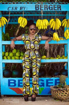 African wac cloth - I love it and the banana background [more at pinterest.com/azizashopping]