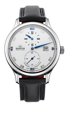 Marvin Malton Round M115.13.24.64 - Call 727-898-4377 to buy now! Old Northeast Jewelers is an Authorized Dealer for Marvin Fine Timepieces! 1131 4th St. N. Saint Petersburg, FL 33701 www.oldnortheastjewelers.com