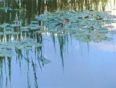 Len Chmiel is considered by his peers to be a master of design and composition. For the highly respected Chmiel, each painting he creates is an expression of himself. Chmiel's work is… Water Lilies Painting, Pond Painting, Lily Painting, Landscape Art, Landscape Paintings, Landscapes, Water Images, Water Art, Water Element