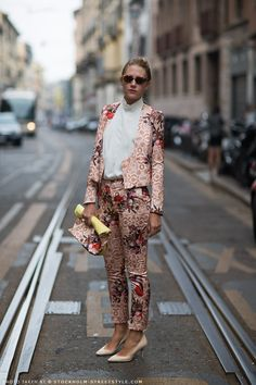 From Stockholm Streetstyle.. Brilliant suit.