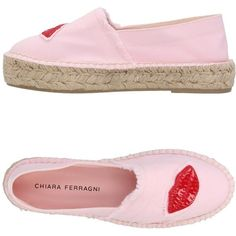 Chiara Ferragni Espadrilles ($210) ❤ liked on Polyvore featuring shoes, sandals, pink, wedge sandals, wedge heel sandals, pink wedge shoes, espadrilles shoes and espadrille wedge shoes