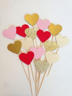 Valentine's Day Cupcake Toppers  Red light by CharminglyKristin