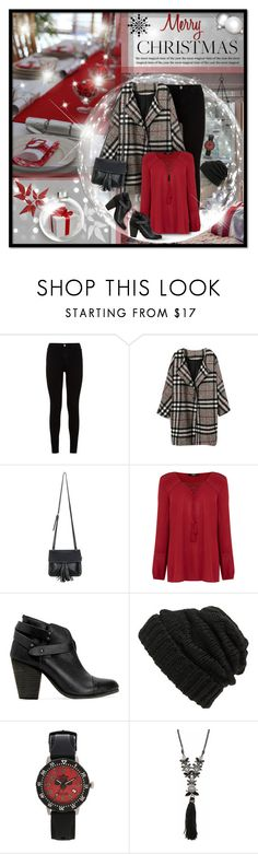 """""""Holiday Cheer!"""" by truthjc ❤ liked on Polyvore featuring 7 For All Mankind, Chicnova Fashion, Oasis, rag & bone, Leith, Affliction, Marchesa and Christmas2015"""
