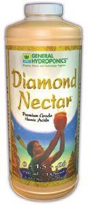 Diamond Nectar Qt. 0-1-1 by General Hydroponics. $24.38. Premium Grade Humic Acid. Despite the low level of nutrients found in natural soil-based environments, plant growth nevertheless occurs because the smallest humic acids channel available nutrients directly into nearby vegetation. By accelerating nutrient absorption at the root boundary zone where minerals enter the plant, small particle sized humic acids optimize nutrient uptake in fast growing vegetation. Diamond Nectar ap...