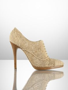 Ralph Lauren Collection - Coleta Raffia Oxford Heel