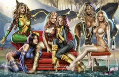 Women of the X-men by Greg Horn ®