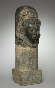 One-Faced Linga (Ekamukhalinga), 600s-800s East India, Bihar, Medieval Period, Pala Dynasty, 7th-8th Century