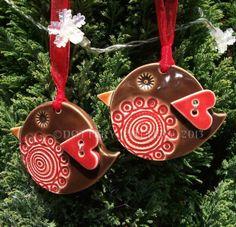 Ceramic robin Christmas decoration £5.00