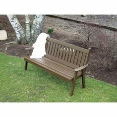 Amish Made Pine Wood Traditional English Garden Bench - Painted