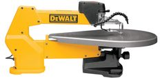 DEWALT Variable Speed Scroll Saw at Lowe's. The variable-speed scroll saw operates quietly and smoothly for accuracy. The tool-free blade clamp allows for quick and easy blade changes. Woodworking Power Tools, Woodworking Crafts, Woodworking Patterns, Woodworking Machinery, Woodworking Plans, Workbench Plans, Woodworking Shop, Best Scroll Saw, Scroll Saw Blades