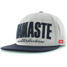 cheap for discount 4f56b 09970 kream Namaste Snapback Cap grau navy