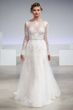 See more wedding dresses from Anne Barge Bridal Fall 2017.