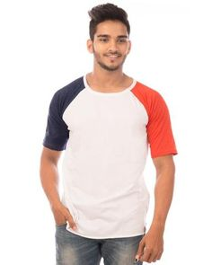 addc83336 NavyBlue Color Cotton Mens T-Shirt - HTTS1034 Online Shopping For Women