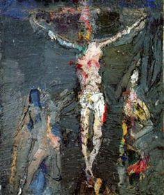 Crusifixion - Eugene Leroy 1956