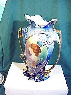 RS Prussia Cobalt Vase