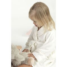 Childs Alesandra Silk Robe in White