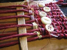 Add weaving to textile art - and leave the stick in!