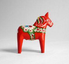 Image of Hand Painted Dala Horse