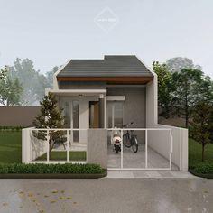 Modern Small House Design, Simple House Design, Small Modern Home, Home Building Design, Home Design Plans, Building A House, Minimalis House Design, House Construction Plan, Bungalow House Design