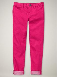 I'm kind of jealous that my girlie got fuchsia skinny jeans before I did.